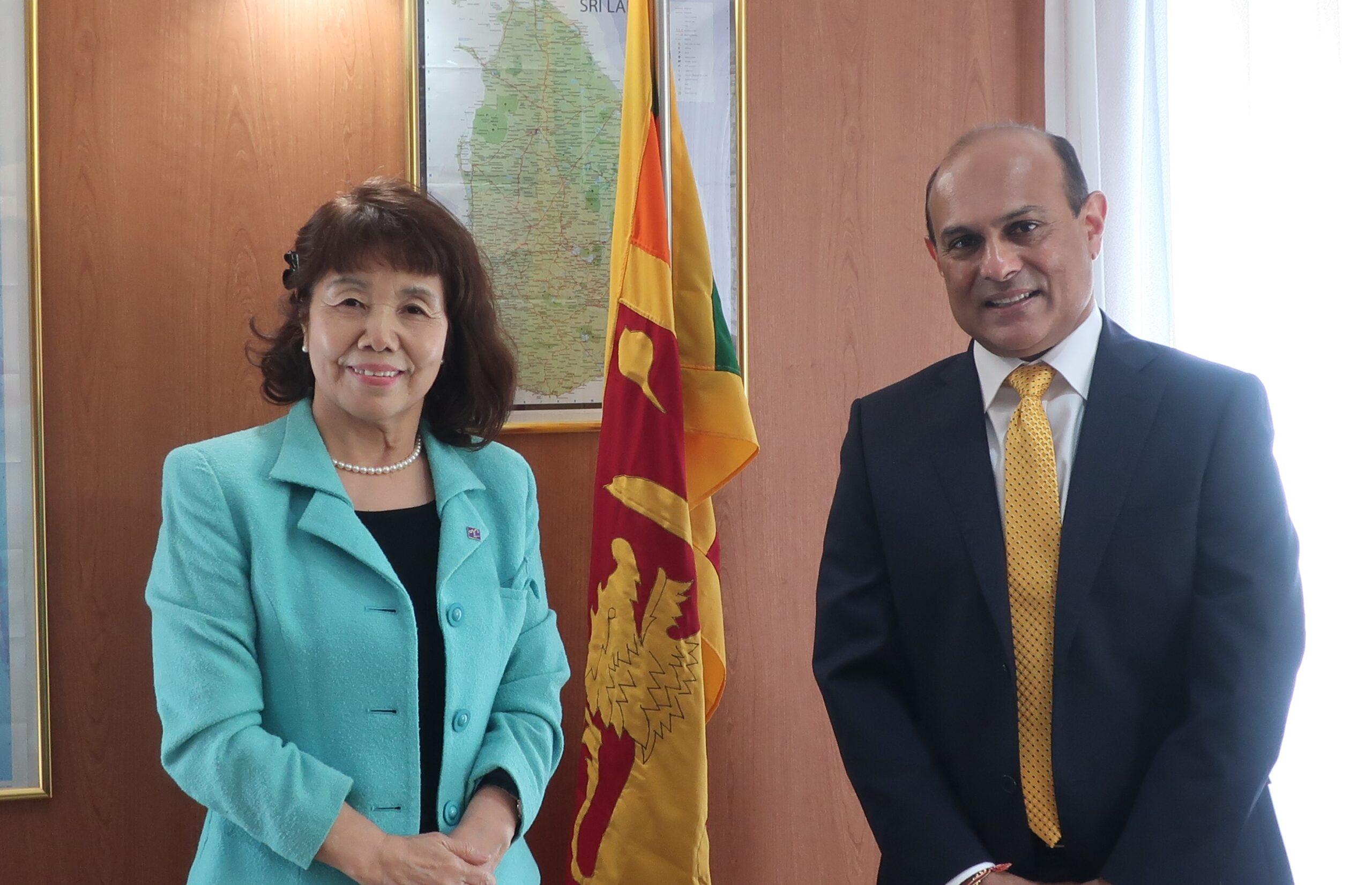 スリランカ大使と沼倉代表
